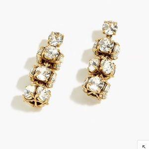 Jcrew Twisted Crystal Drop Earrings